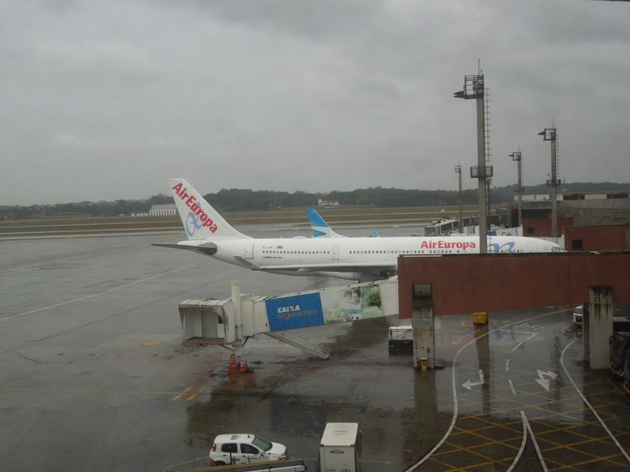 サンパウロ空港にてエア・ヨーロッパ航空の機材