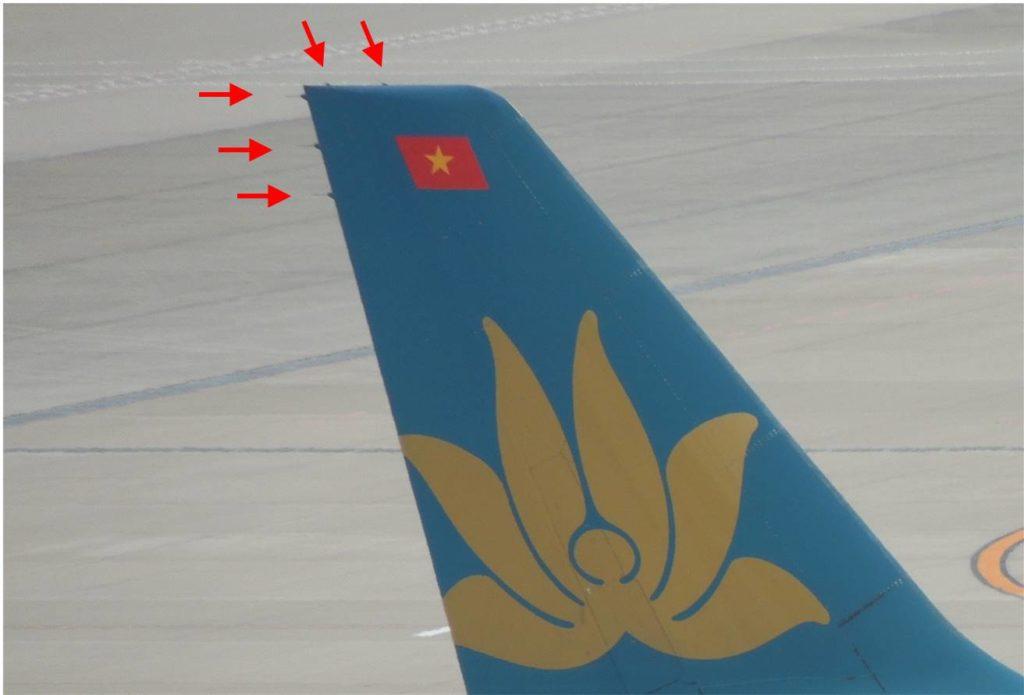 垂直尾翼のStatic Discharger画像