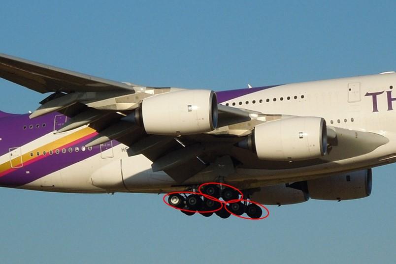 A380のランディングギア拡大