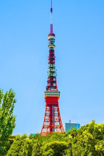 昼間障害標識の例(東京タワー)