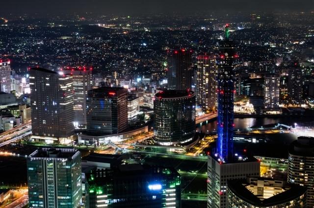 都心の夜景の写真
