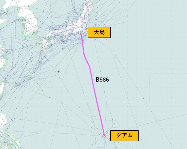 航空路B586