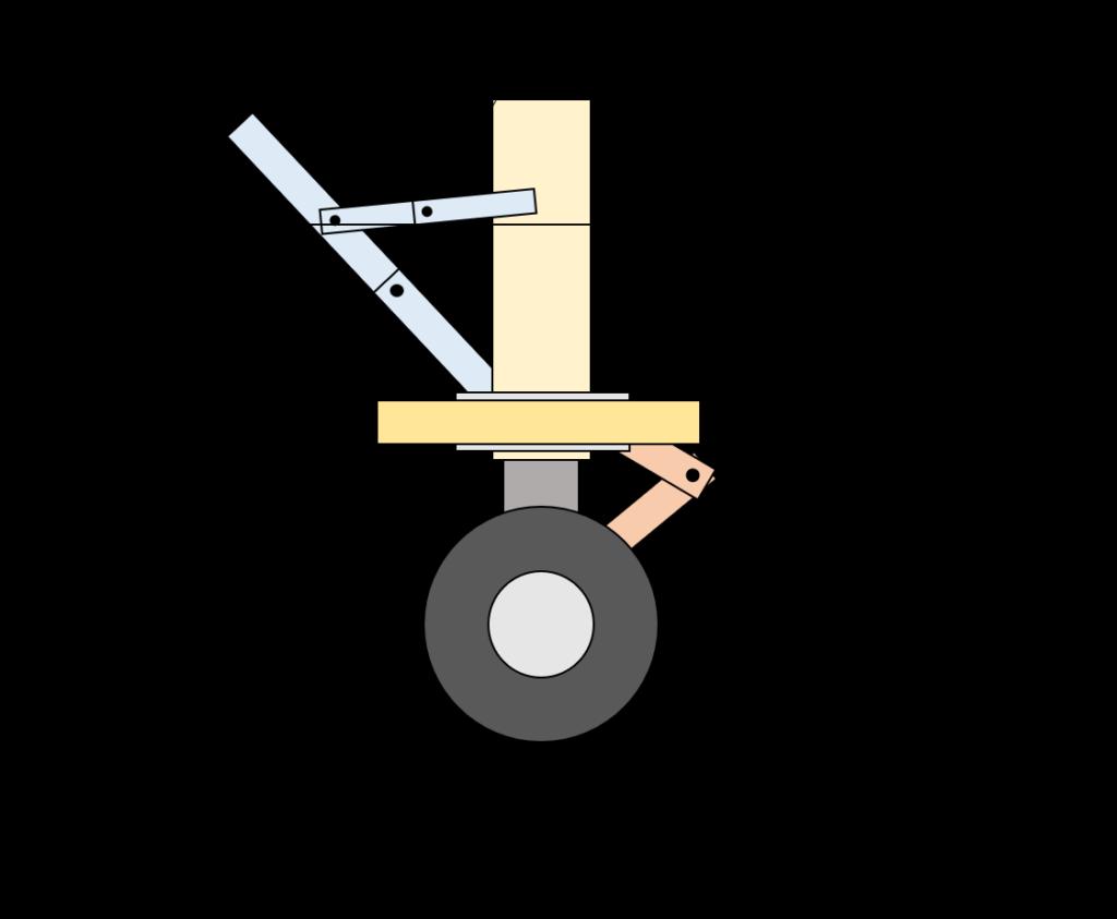 ノーズランディングギアの構造