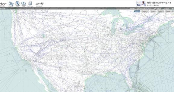 アメリカの航空路