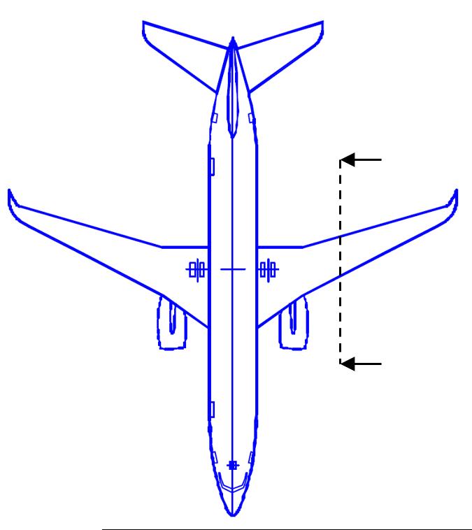 翼の断面のイメージ