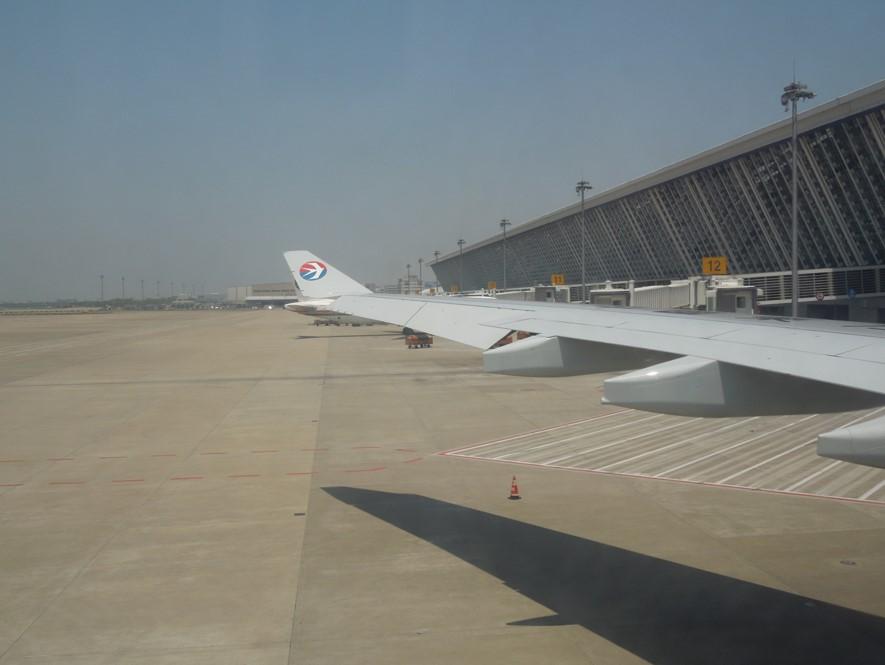 A330のウイングレットをキャビンから見た画像