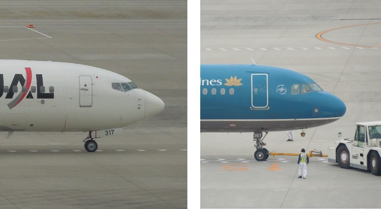 B737のノーズ形状比較