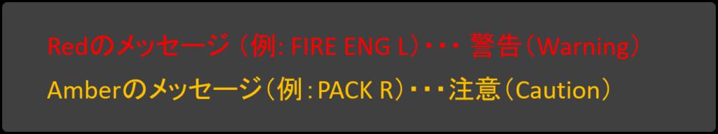 EICASメッセージの色分け例