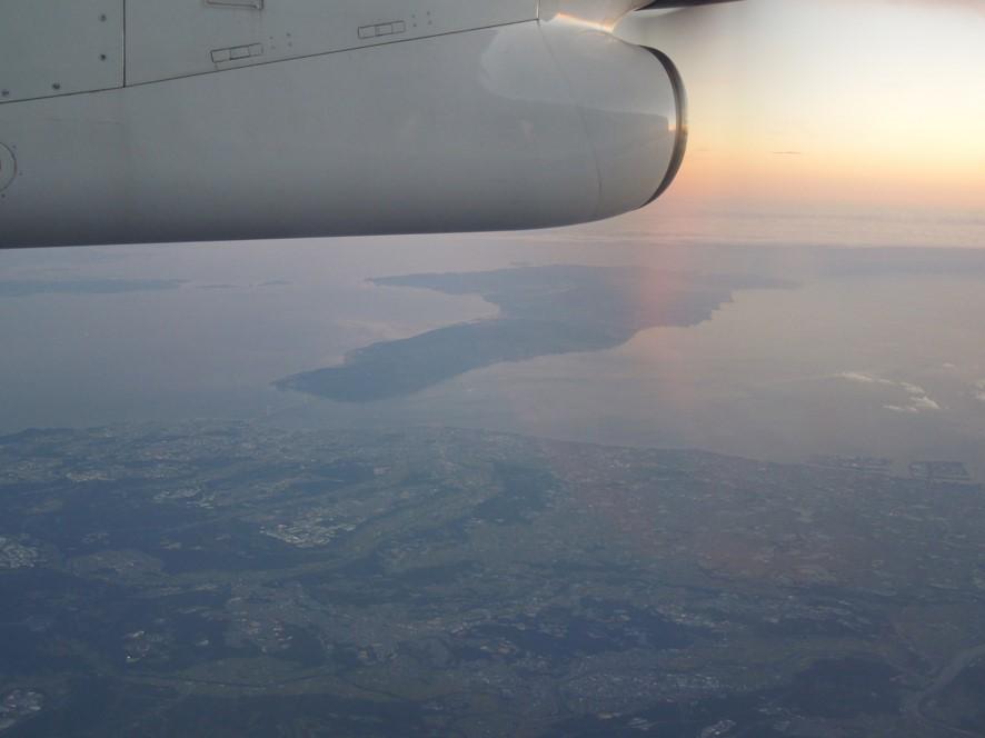 淡路島付近上空