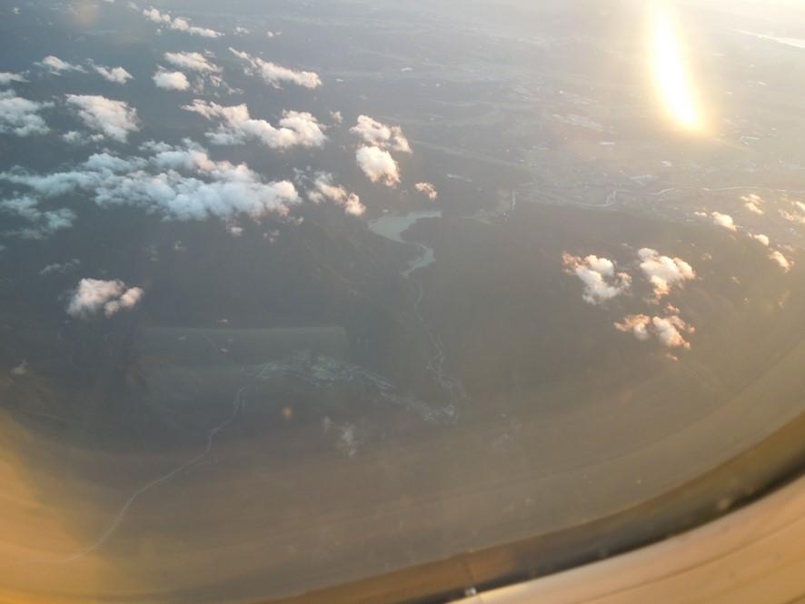 鈴鹿山脈上空