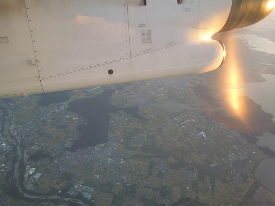 琵琶湖付近上空