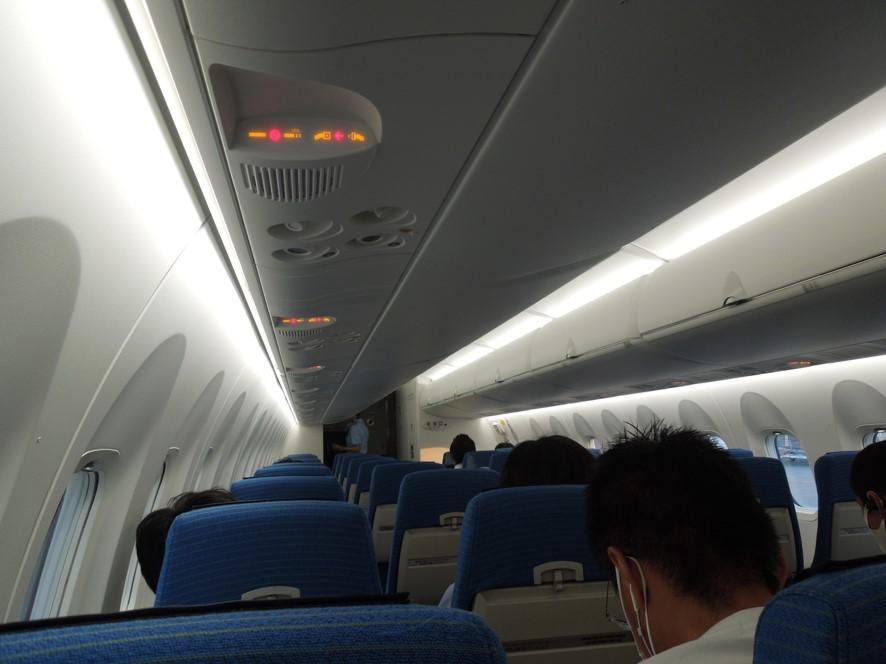 Q400の機内