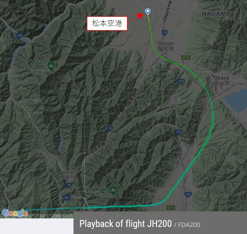 松本空港でのRWY36ストレートインランディング実施例