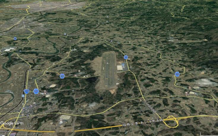 福島空港の俯瞰図