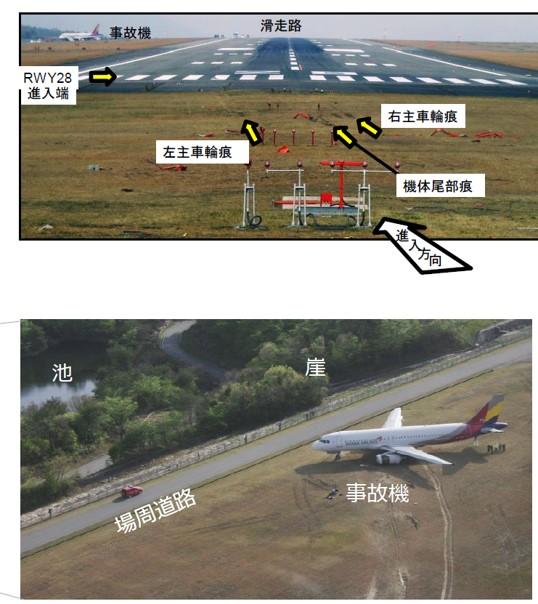 アシアナ航空の事故の画像