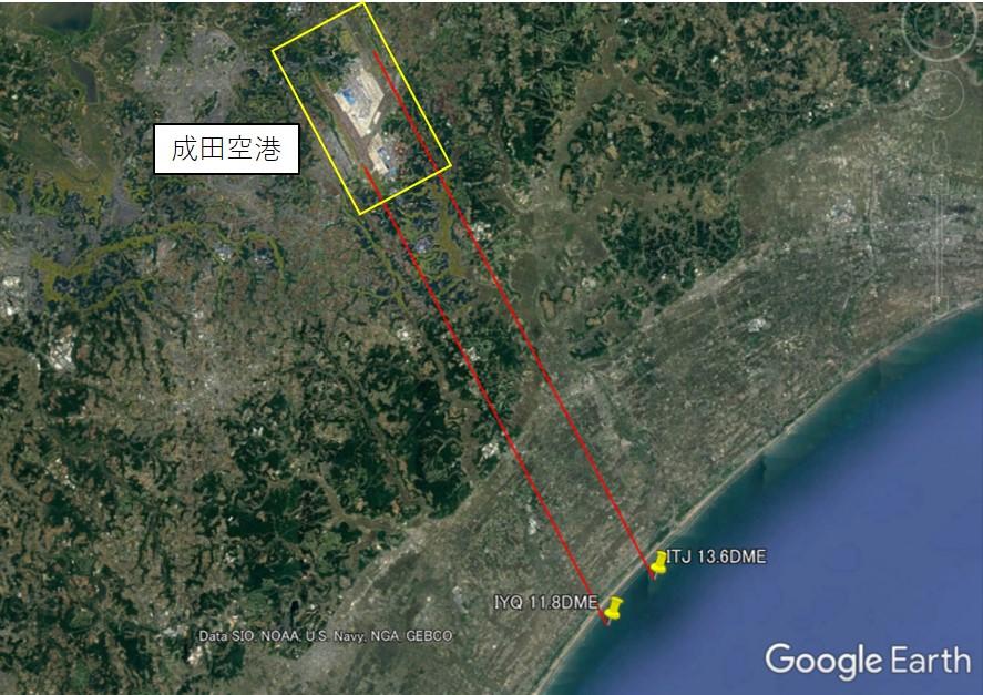 成田空港のギアダウン制限位置