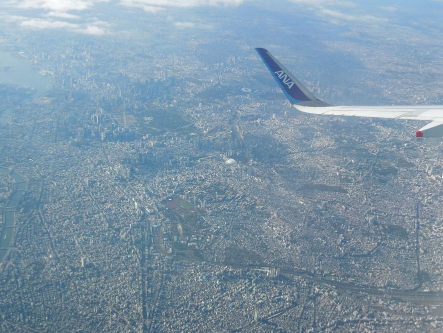新ルートから見た東京都心の景色