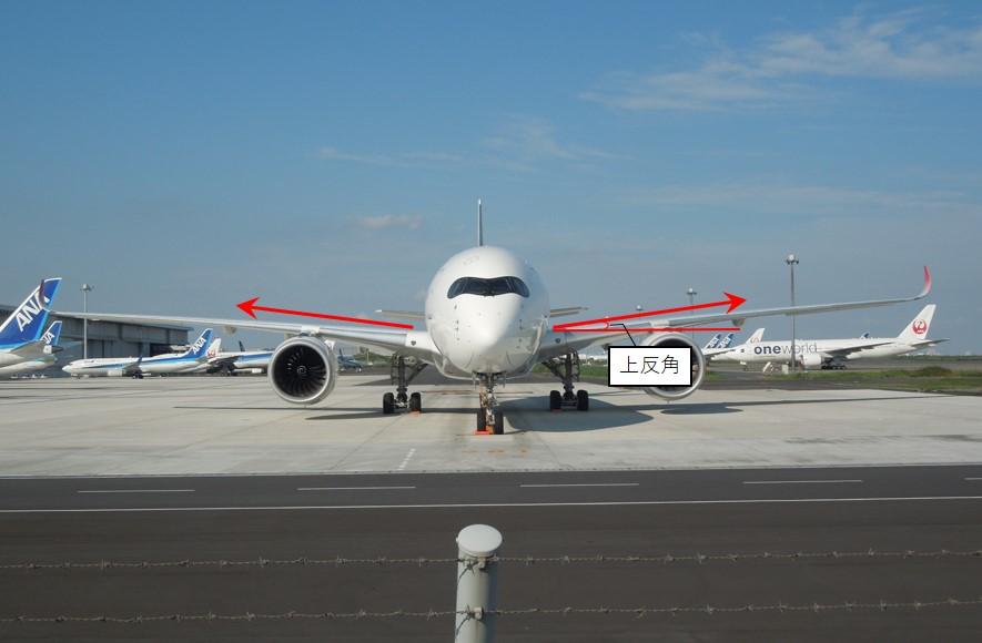上反角を持つ飛行機の画像